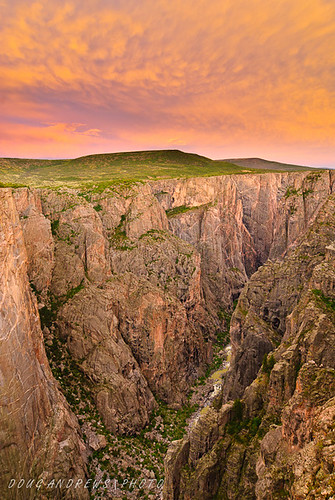 sunset summer landscapes colorado seasons states nationalparks blackcanyonofthegunnisonnp