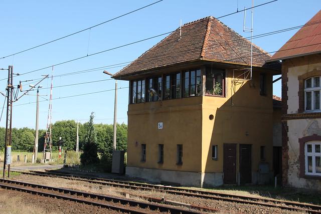 Sa interlocking tower , Samostrzel train station 23.07.2013
