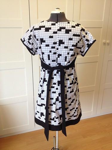 crossword dress #2 back