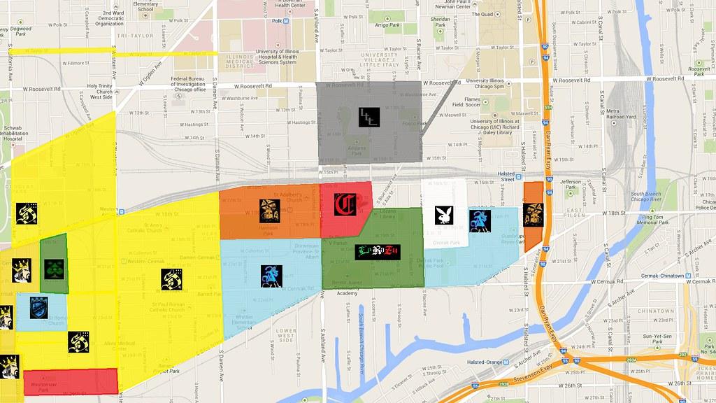 Pilsen Gang map | I found this updated map of pilsen gangs. … | Flickr