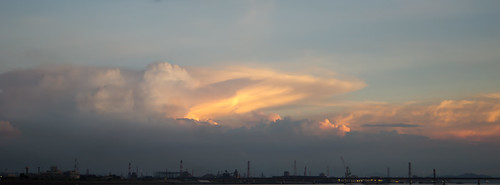 sunset japan clouds industrial takahashi jfe