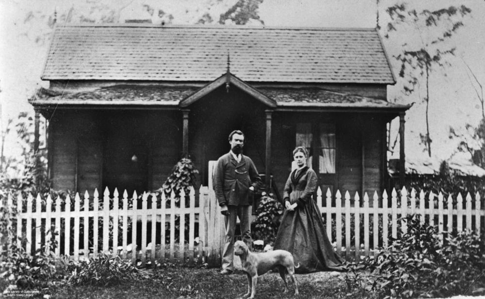 Unidentified residence at Gympie, Queensland, ca. 1871