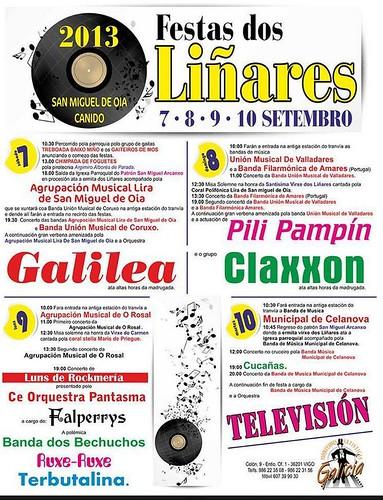 Vigo 2013 - Festas dos Liñares en San Miguel de Oia-Canido - cartel