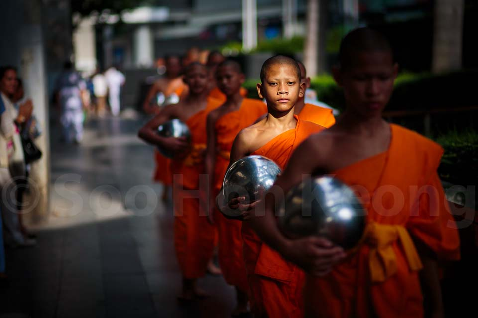 Alms offering to 10,000 monks in homage to the Triple Gem @ Bangkok, Thailand