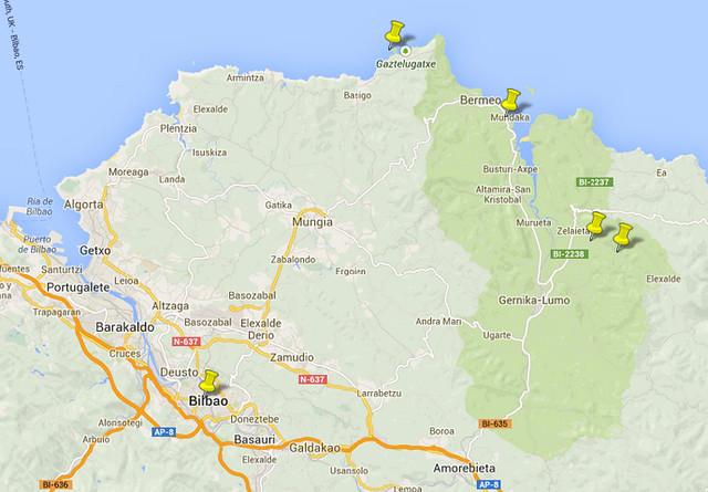 Mapa Roteiro Bilbao