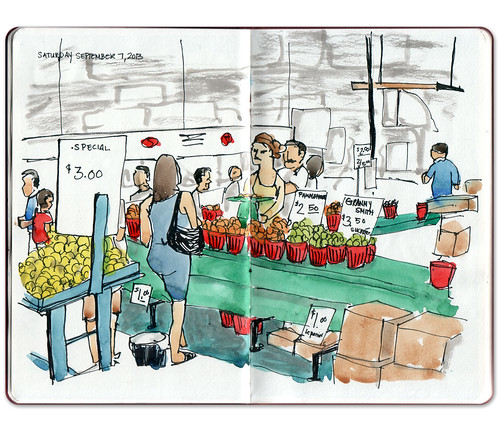 Market stalls by Jennifer Appel
