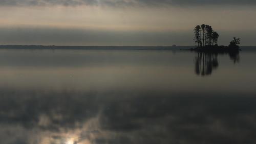 reflection reflects island trees water clouds europe g2 landscape light lumix morning nature panasonic panasonicg2 poland polska silhouette sky sunrise stillnes fromyoutous