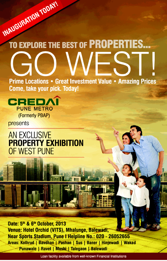 CREDAI Pune Metro Property Exhibition of West Pune 5th & 6th October 2013 (5-10-2013)