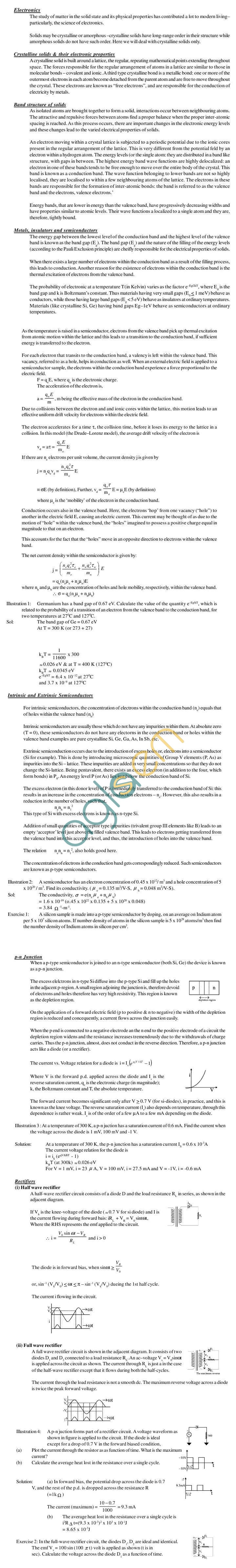 Physics Study Material - Semiconducter Physics