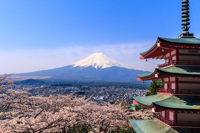 Fuji with Chureito Pagoda