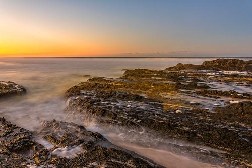 sunset sea landscape landscapes exposure au australia slowshutter queensland currumbin goldcoast queenslandcoast