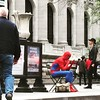 Even #SpiderMan knows that the #NewYork Public Library is a cool place to hang out in. #nypl #Manhattan #midtown #myny #mynyc #spidey #onlyinNewYork