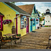 Colorful Shops in Olcott, NY by David Fehrman