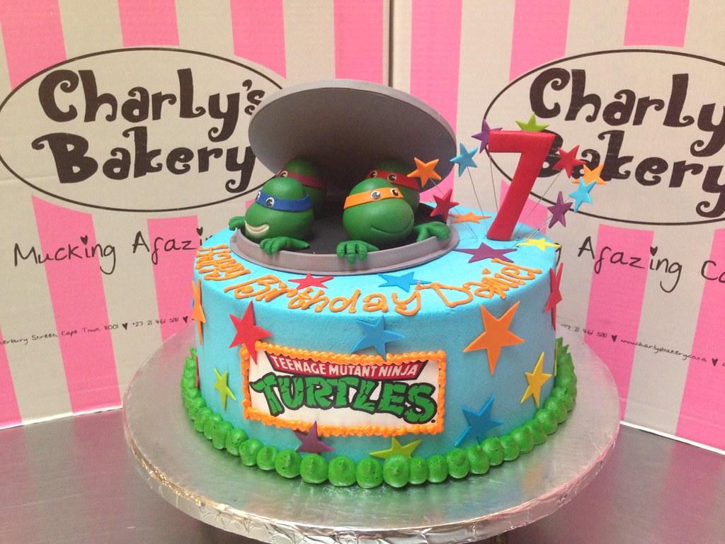 Teenage Mutant Ninja Turtles Tmnt Themed 7th Birthday Cake Flickr