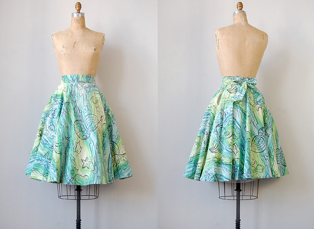 vintage 1950s circle skirt