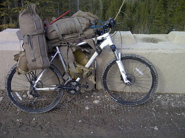 Camping Via Tactical Bike