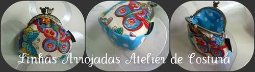novo  porta moedas de borboletas com fundo by ♥Linhas Arrojadas Atelier de costura♥Sonyaxana