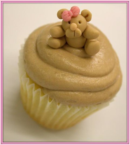 Cute Teddy Bear Cupcake