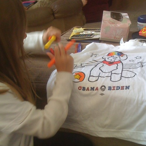 Why yes,this is how we color in this house #obama2012