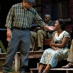 ohn Beasley (Troy Maxson), Bill Nunn (Gabriel), and Crystal Fox (Rose Maxson) in the Huntington Theatre Company's production of Fences. Part of the 2009-2010 Season