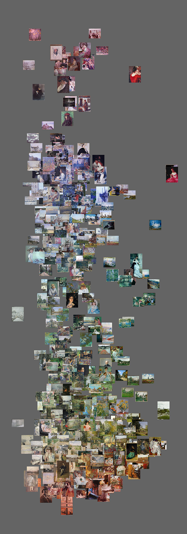 1226 Impressionist paintings (x - saturation, y - hue) w640