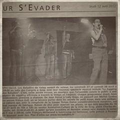 Dans la Presse de Gray le 12/04/2012