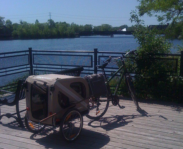 Image of bike on downtown Peterborough waterfront