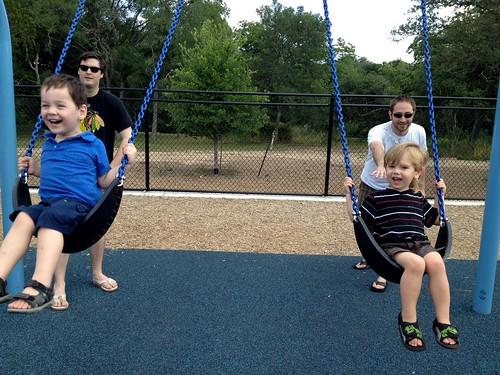 swinging boys