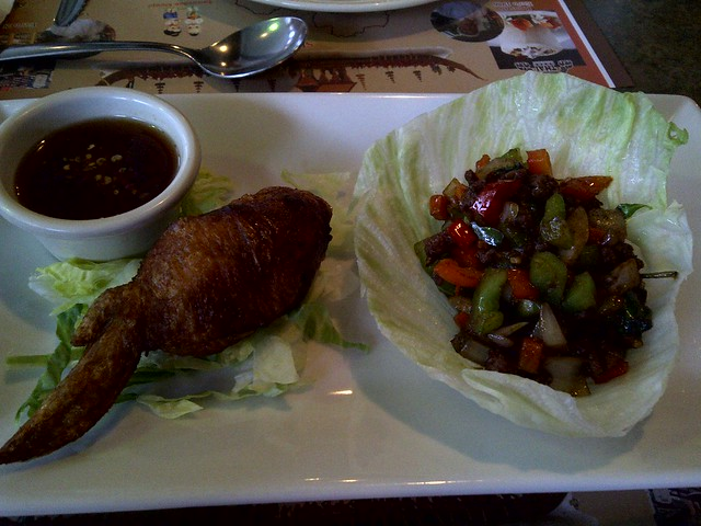Wings and Lettuce Wrap 3