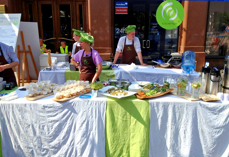 EcoCatering.lv was serving food in Riga Nordea Marathon on Saturday by aigarsbruvelis