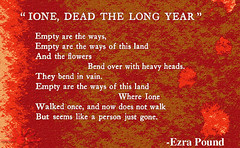 """Ione, Dead the Long Year"" / Ezra Pound"
