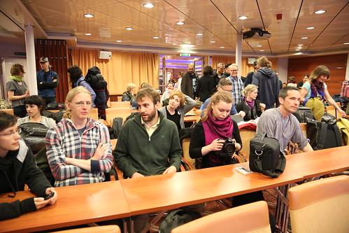 ferry boat to Tallinn. Estonia