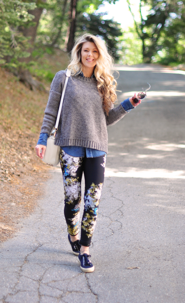 long hair dont care-casual outfit-floral pants