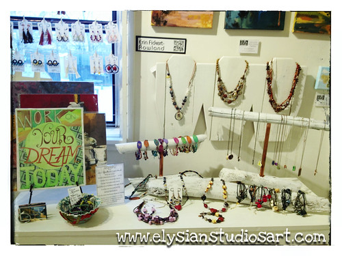 BMy art and jewelry on display in the famous back room of Zip 37 GalleryR Display 5 copy