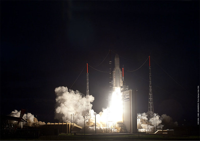 Ariane 5 flight VA213 lifts off with ATV-4