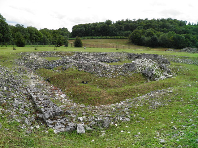 The Fanum, small Gallo-Roman temple, Nasium, France