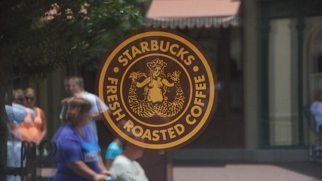 Starbucks in the Main Street Bakery at Walt Disney World