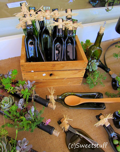 Melted bottles, planters, spoon rest