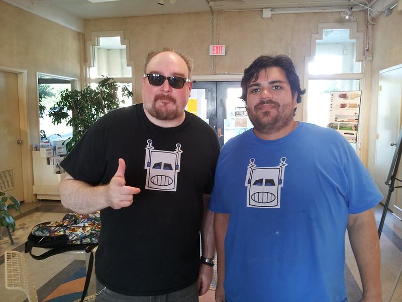 Brad McEntire robot t-shirt design