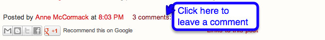 How to comment on a blog