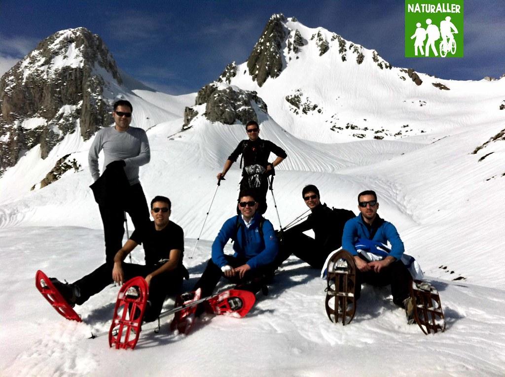 Grupos raquetas de nieve