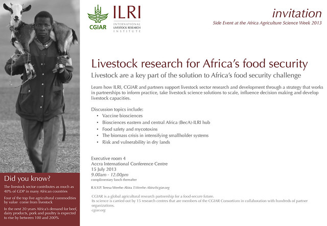 Invitation to the ILRI side event at FARA_AASW6