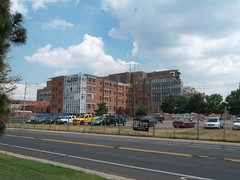 North Wing and Demolished West Wing, St. Anthony Central Hospital.