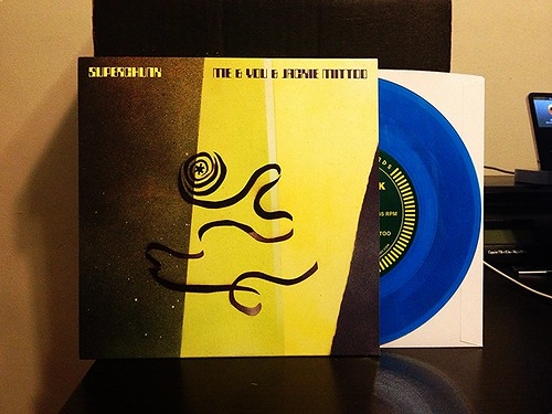 "Superchunk - Me & You & Jackie Mittoo 7"" - Blue Vinyl by Tim PopKid"