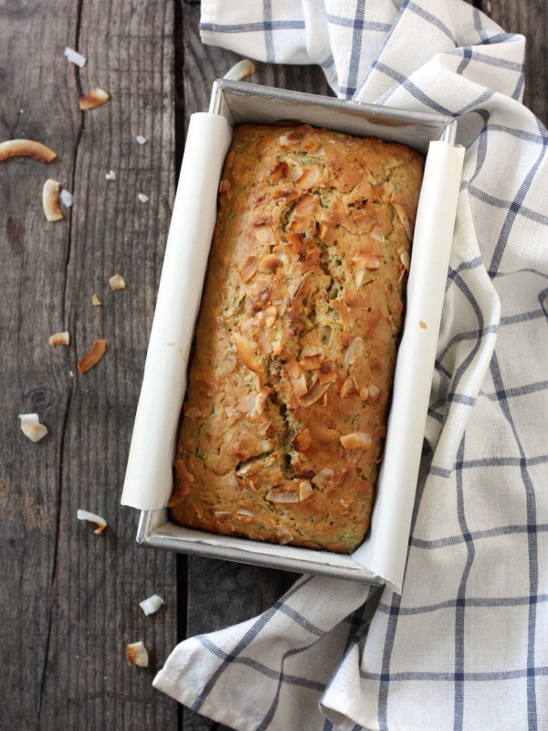 Toasted Coconut and Zucchini Bread | completelydelicious.com