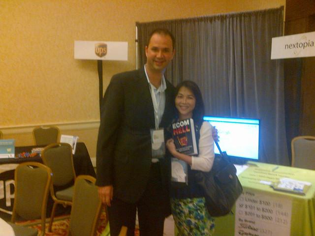 Nextopias Derek Wisniewski (left) with Ecom Hell author Shirley Tan