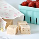 raspberry & white chocolate fudge