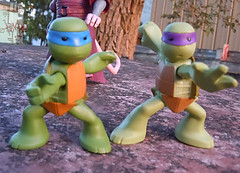 Nickelodeon  TEENAGE MUTANT NINJA TURTLES :: NINJAS in TRAINING, LEONARDO & DONATELLO ix // ..waist twist (( 2013 ))
