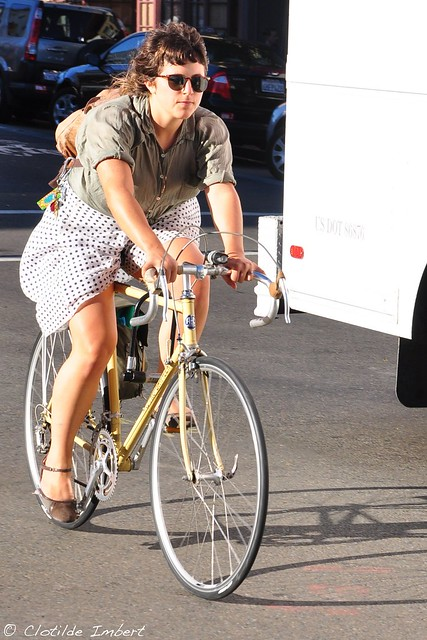 SF - Cycle Chic - race bike & skirt