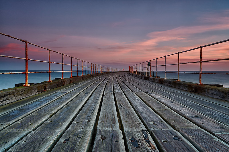 Whitby West Pier At Dawn
